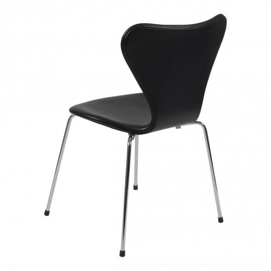 (Ny) Arne Jacobsen, syver stol, 3107 ,i sort classic læder