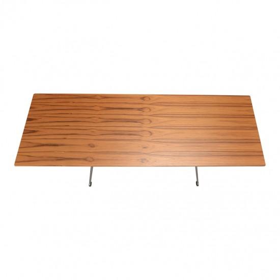Arne Jacobsen Sofabord med ny renoveret plade af teak
