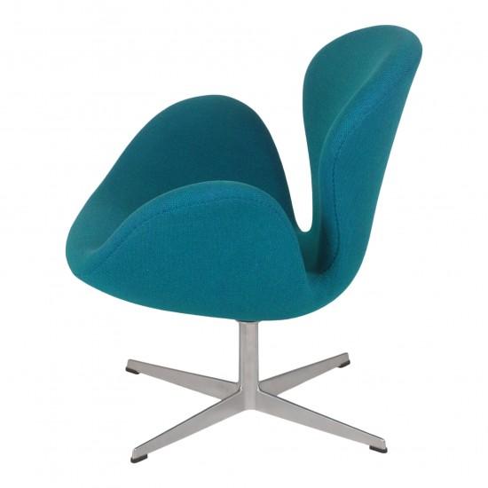 Arne Jacobsen Svane gammel model, i grøn Hallingdal stof