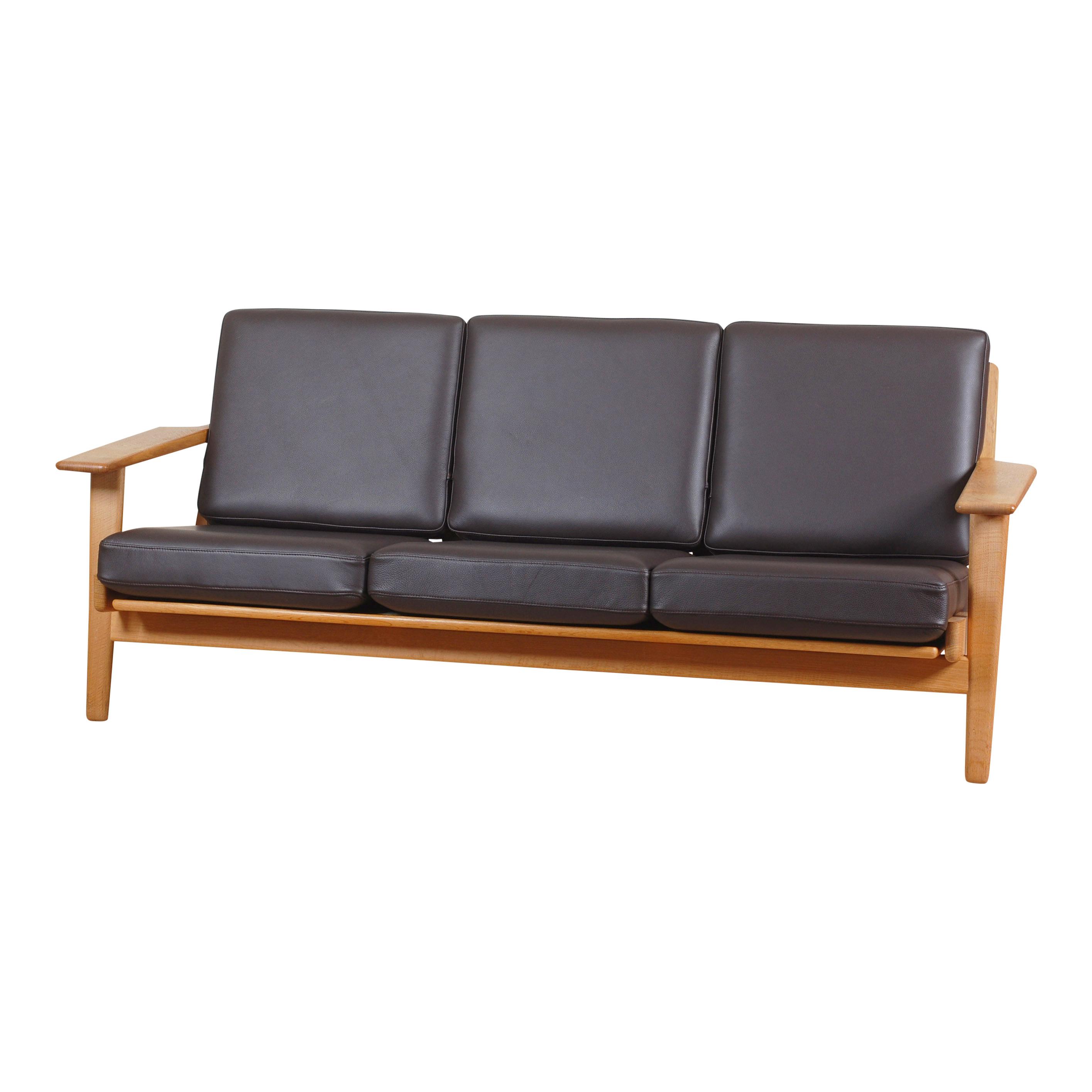 Picture of: Brugt Wegner Ge 290 3 Pers Sofa I Brun Laeder Cph Classic