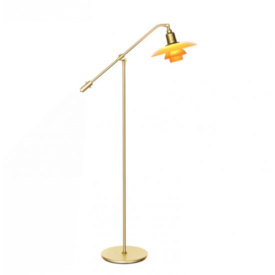 (Ny) PH 3/2 water pump 3/2 lampe med ravfarvet glas
