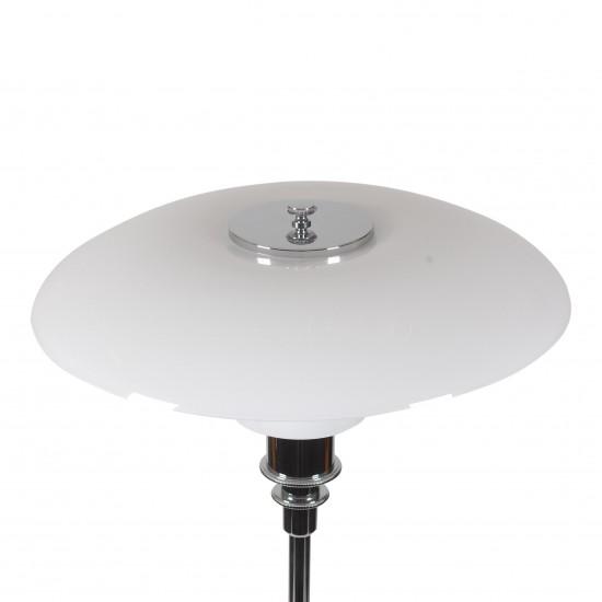 (NY)Poul Henningsen 3/2 bordlampe med hvide opal glas