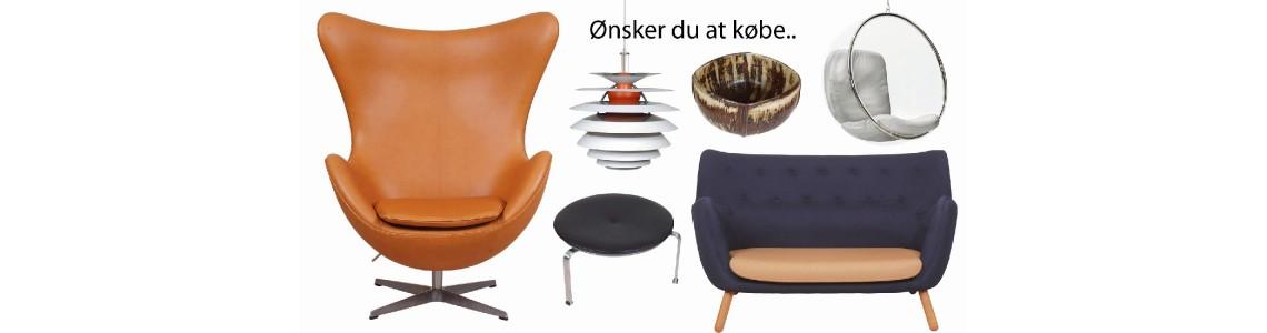 Køb dine brugte designmøbler på markedets bedste vilkår!