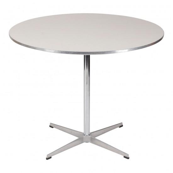 Arne Jacobsen cafebord med hvid laminat Ø: 90 cm