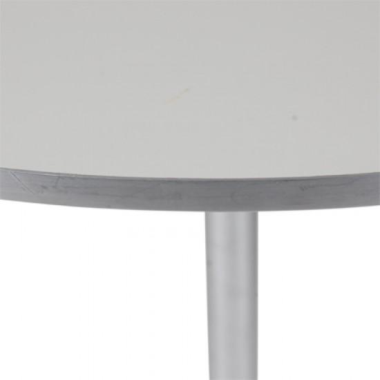 Arne Jacobsen cafebord med hvid laminat Ø: 75 cm