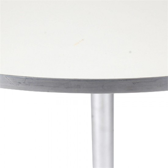 Arne Jacobsen cafebord med hvid laminat 80 x 80 cm