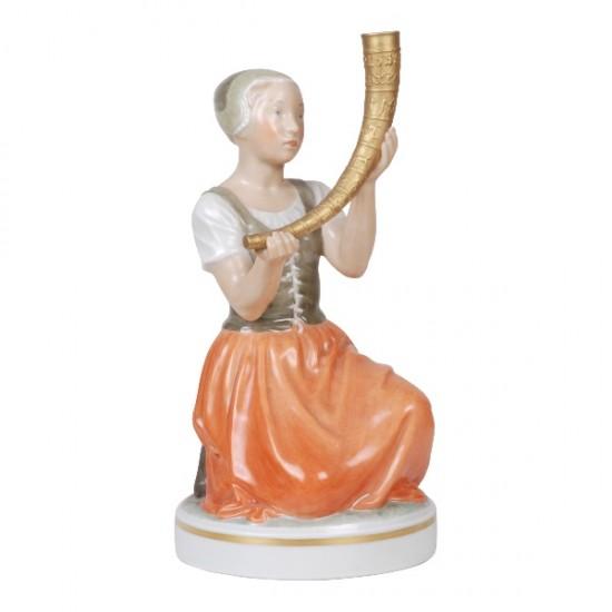 Royal Copenhagen pigen med guldhornet. 12242