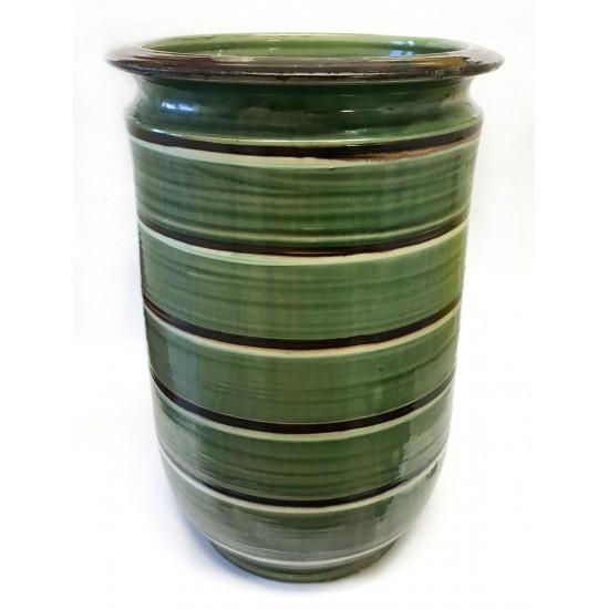 Herman A. Kähler  cylender formet vase udført i bly glasur vase H: 44cm/ Ø: 29 cm